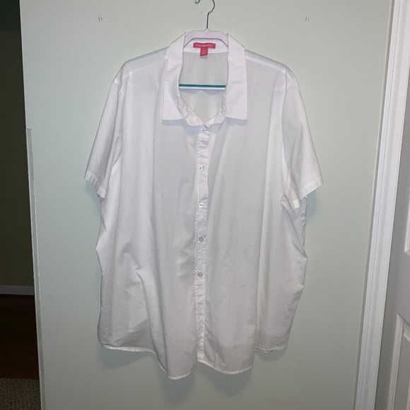Woman Within Tops - White button down shirt Woman Within 4x (34/36)